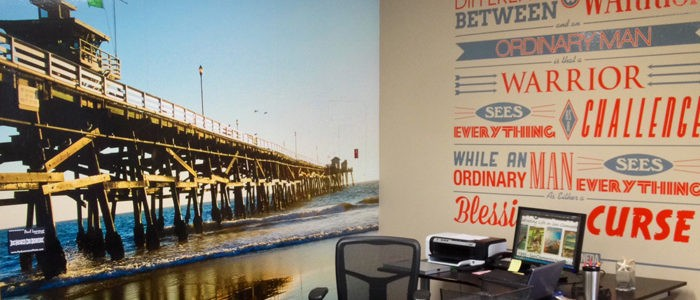 Interior wall murals for ambiance